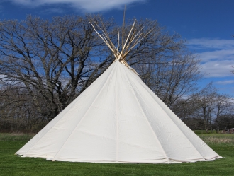 completed tipi